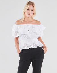 material Women Blouses Guess SS NEW ISOTTA TOP White