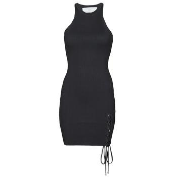 material Women Short Dresses Guess ALEXA TIE DRESS Black