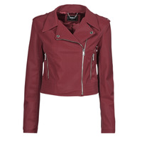 material Women Leather jackets / Imitation le Guess NEW KHLOE JACKET Bordeaux