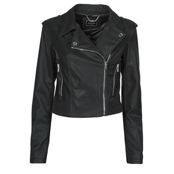 material Women Leather jackets / Imitation le Guess NEW KHLOE JACKET Black
