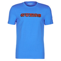 material Men short-sleeved t-shirts Guess GUESS PROMO CN SS TEE Blue