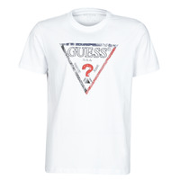 material Men short-sleeved t-shirts Guess TRIESLEY CN SS TEE White
