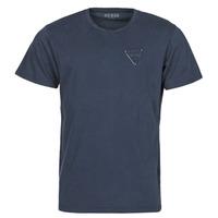 material Men short-sleeved t-shirts Guess LOGO ORGANIC BASIC CN SS TEE Marine