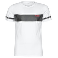 material Men short-sleeved t-shirts Guess CN SS TEE White / Black