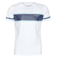 material Men short-sleeved t-shirts Guess CN SS TEE White / Marine