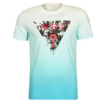 material Men short-sleeved t-shirts Guess PALM BEACH CN SS TEE Blue