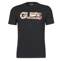 material Men short-sleeved t-shirts Guess PHOTOSHOW CN SS TEE Black
