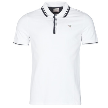 material Men short-sleeved polo shirts Guess SCOTT SS POLO White