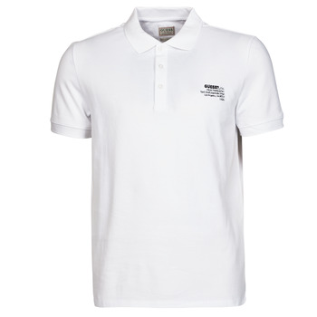 material Men short-sleeved polo shirts Guess OZ SS POLO White