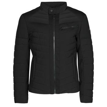 material Men Duffel coats Guess STRETCH MIXED BIKER Black