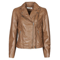 material Women Leather jackets / Imitation le Naf Naf CAMILLA Cognac