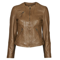 material Women Leather jackets / Imitation le Naf Naf CTRIBE M Cognac
