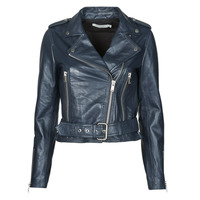 material Women Leather jackets / Imitation le Naf Naf CANDICE P Marine