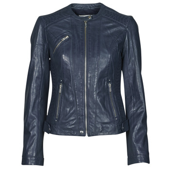 material Women Leather jackets / Imitation le Naf Naf CZEUS M Marine