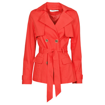 material Women Trench coats Naf Naf BIPARIS Red