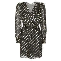 material Women Short Dresses Naf Naf DOTSYTA Black / Gold
