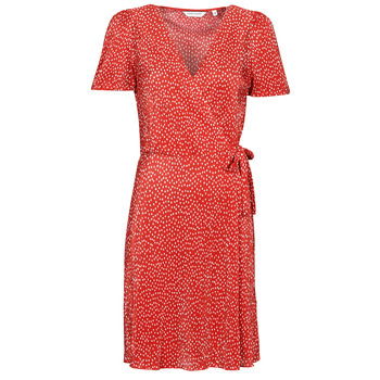 material Women Short Dresses Naf Naf OPLIPOIS R1 Red / White