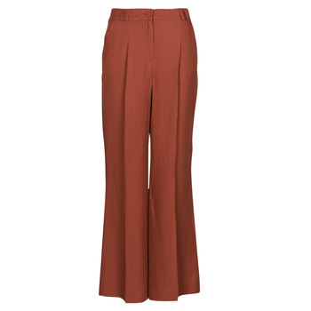 material Women 5-pocket trousers Naf Naf LINONOU P2 Terracotta