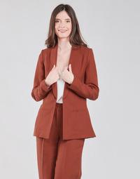 material Women Jackets / Blazers Naf Naf LINONOU V2 Terracotta
