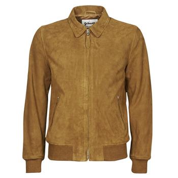 material Men Leather jackets / Imitation le Schott LC YALES S Cognac
