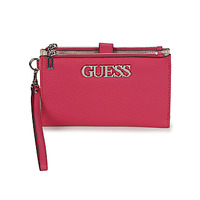 Bags Women Wallets Guess UPTOWN CHIC DOUBLE ZIP ORGANIZER Pink