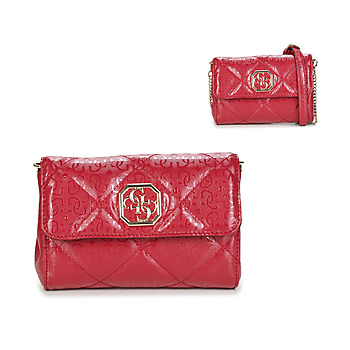 Bags Women Wallets Guess DILLA DOUBLE ZIP ORGANIZER Red