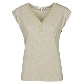 material Women short-sleeved t-shirts Morgan DMAYA Beige