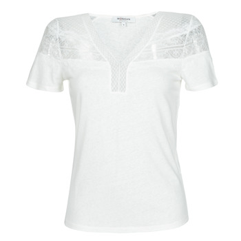 material Women short-sleeved t-shirts Morgan DIETER White