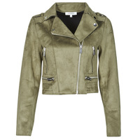 material Women Leather jackets / Imitation le Morgan GRAMMY Green