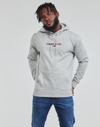material Men sweaters Tommy Jeans TJM LINEAR LOGO HOODIE Grey