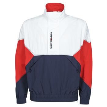 material Men Blouses Tommy Jeans TJM LIGHTWEIGHT POPOVER JACKET White / Red / Marine