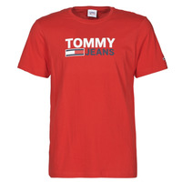 material Men short-sleeved t-shirts Tommy Jeans TJM CORP LOGO TEE Red
