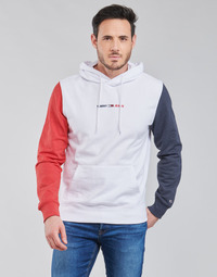 material Men sweaters Tommy Jeans TJM HALF AND HALF HOODIE Marine / White / Red