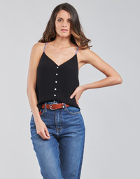 material Women Blouses Tommy Jeans TJW CAMI TOP BUTTON THRU Black