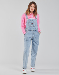 material Women Jumpsuits / Dungarees Tommy Jeans DENIM DUNGAREE TJLLBC Blue / Clear