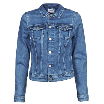 material Women Denim jackets Tommy Jeans VIVIANNE SLIM DENIM TRUCKER NMBS Blue / Medium