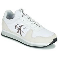 Shoes Men Low top trainers Calvin Klein Jeans RUNNER SOCK LACEUP NY-LTH White