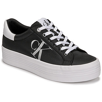 Shoes Women Low top trainers Calvin Klein Jeans VULCANIZED FLATFORM LACEUP NY Black