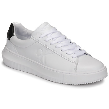 Shoes Women Low top trainers Calvin Klein Jeans CHUNKY SOLE SNEAKER LACEUP LTH White