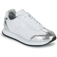 Shoes Women Low top trainers Calvin Klein Jeans RUNNER LACEUP TRN-PYT PES White / Silver