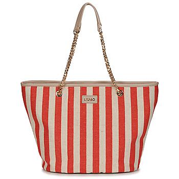 Bags Women Shopper bags Liu Jo SICURA XL TOTE Beige / Red