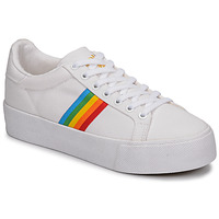 Shoes Women Low top trainers Gola ORCHID PLATEFORM RAINBOW White / Multi