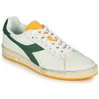 Shoes Men Low top trainers Diadora GAME L LOW ICONA White / Green / Yellow