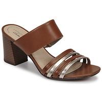 Shoes Women Mules Clarks JOCELYNNE ANDI Brown / Silver