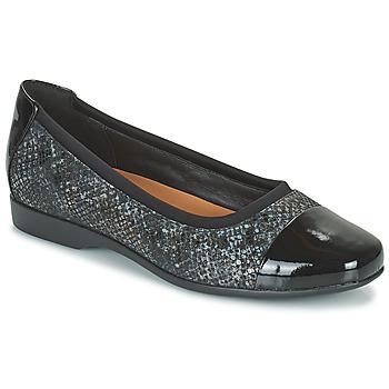 Shoes Women Ballerinas Clarks UN DARCEY CAP2 Black
