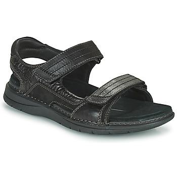 Shoes Men Sports sandals Clarks NATURE TREK Black