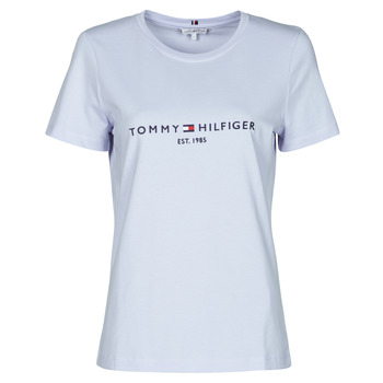 material Women short-sleeved t-shirts Tommy Hilfiger TH ESS HILFIGER C-NK REG TEE SS Blue / Sky