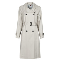 material Women Trench coats Tommy Hilfiger DB LYOCELL FLUID TRENCH Beige