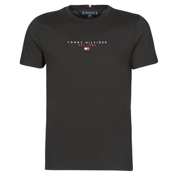 material Men short-sleeved t-shirts Tommy Hilfiger ESSENTIAL TOMMY TEE Black