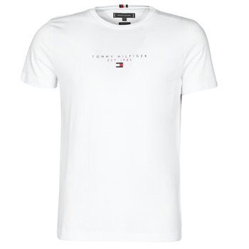 material Men short-sleeved t-shirts Tommy Hilfiger ESSENTIAL TOMMY TEE White